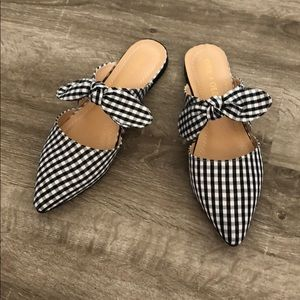 Chase and Chloe Gingham Mule Flats